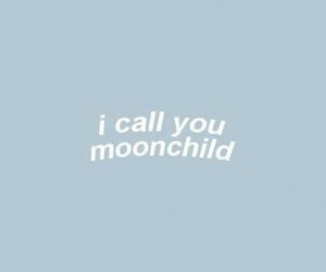 aesthetic, blue, and moonchild image