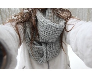 scarf, snow, and tumblr image