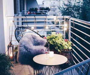 candle, balcony, and decor image