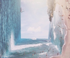 beach, art, and sea image