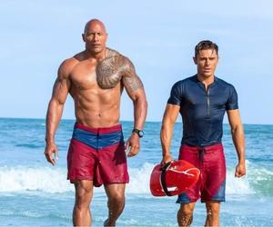 beach, Dwayne Johnson, and movie image