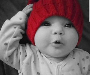 baby, hat, and read image