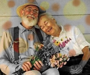couple, elderly, and dots image