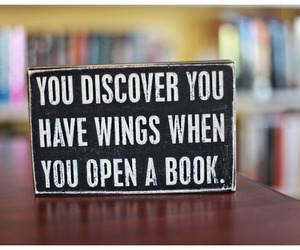 book, freedom, and wings image