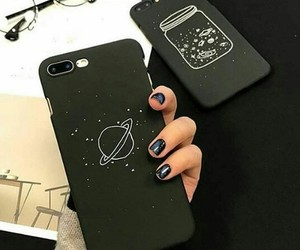 black, iphone, and suitcases image