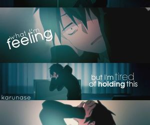 anime, emotional, and feelings image