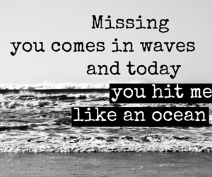 missing, ocean, and quote image