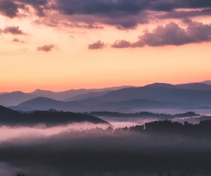 clouds, down, and landscape image