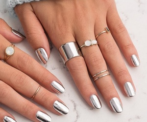 nails, metallic, and silver image