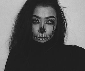 Halloween, makeup, and skullface image