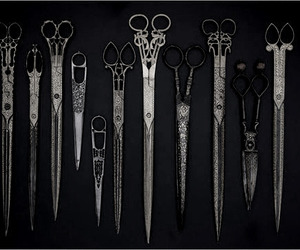 antique, gray, and scissors image