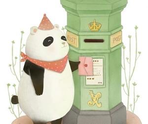 drawing, panda, and wallpaper image