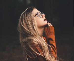 autumn, glasses, and hair image
