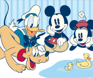 donald, donald duck, and mickey image