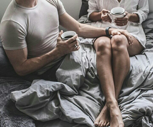 boyfriend, coffee, and couple image