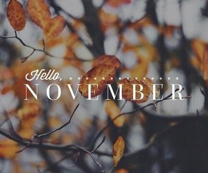 november, autumn, and hello image