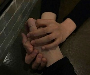 aesthetic, couple, and hands image