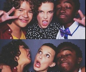 caleb, millie, and stranger things image