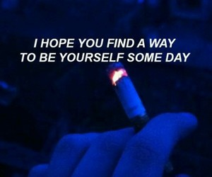 quotes, blue, and cigarette image