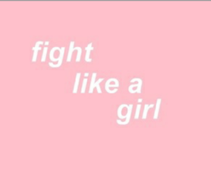 pink, girl, and fight image
