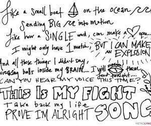 life, fight song, and i'm alright image