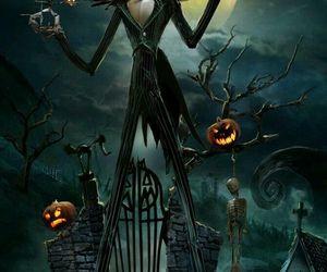 Halloween, art, and jack skellington image