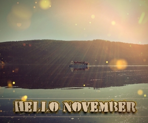 autumn, hello, and november image