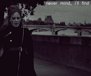 Adele, music, and text image