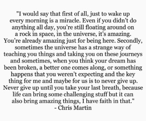 Chris Martin, coldplay, and motivational image