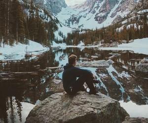 photography, mountain, and شتاءً image