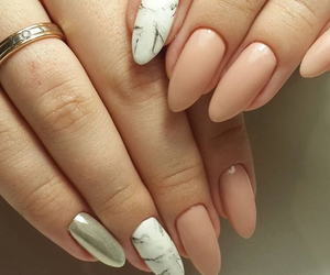manicure, nails, and marble image