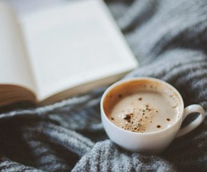 coffee, book, and cozy image