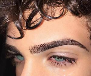 boy, eyes, and eyebrows image