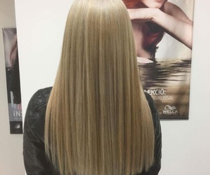 blonde, hair, and hairdresser image