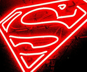 superman, red, and neon image