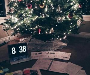 christmas, laptop, and lights image