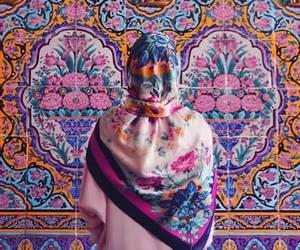 colors, girl, and hijab image
