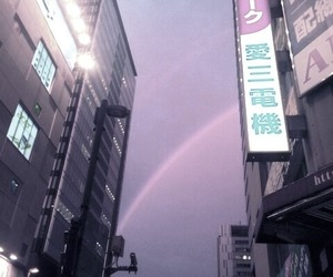 purple, japan, and city image