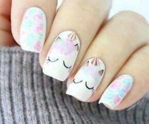 nails, unicorn, and blue image