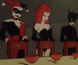 batman, harley, and poison image