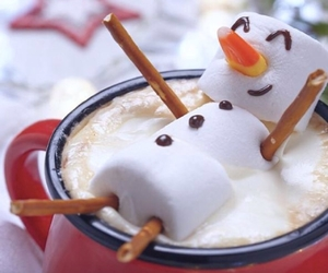 drink, happy, and snowman image