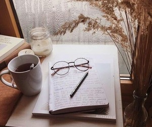 book, coffee, and article image