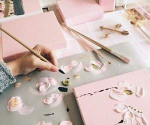 pink, aesthetic, and art image