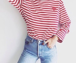 comme des garcons, jeans, and outfit image