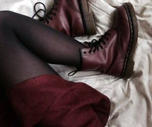 red, grunge, and boots image