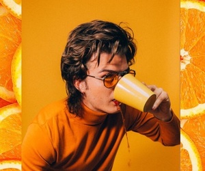 background, boy, and drink image