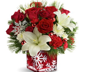 bouquets, christmas flowers, and christmas bouquets image