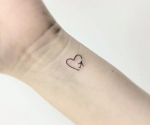 heart, tattoo, and travel image