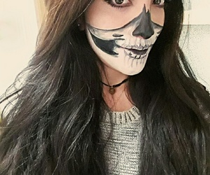beautiful, Halloween, and make up image
