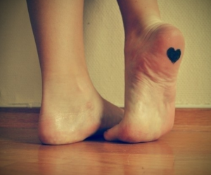 heart, feet, and tattoo image